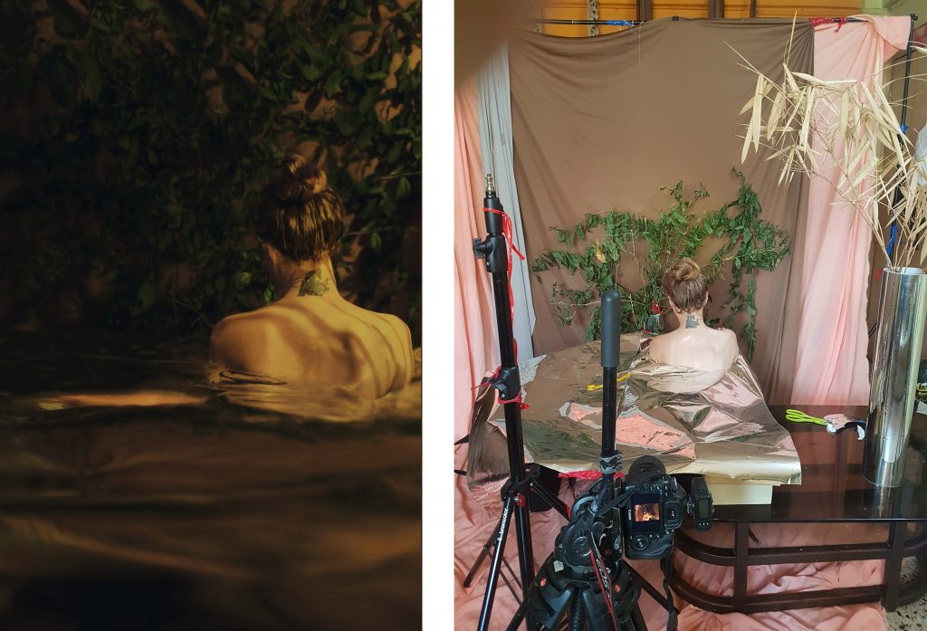 Take Me Away – Self-Portrait Project. Imitating Nature at Home using just Props and Light